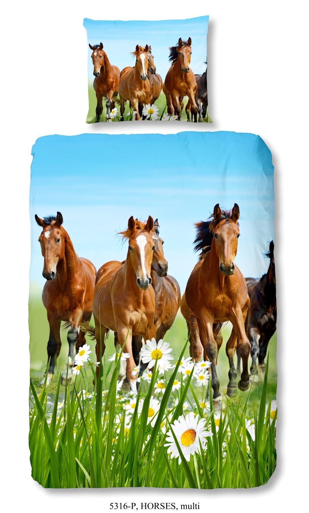 Dekbedovertrek met paarden – Multi